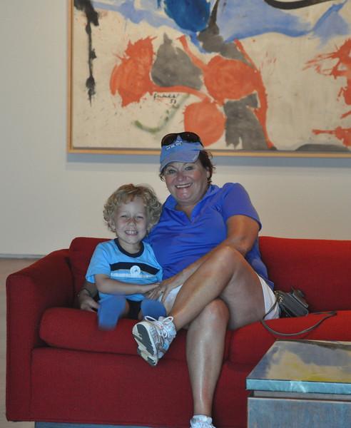 Everett and Grandma at the Milwaukee Art Museum