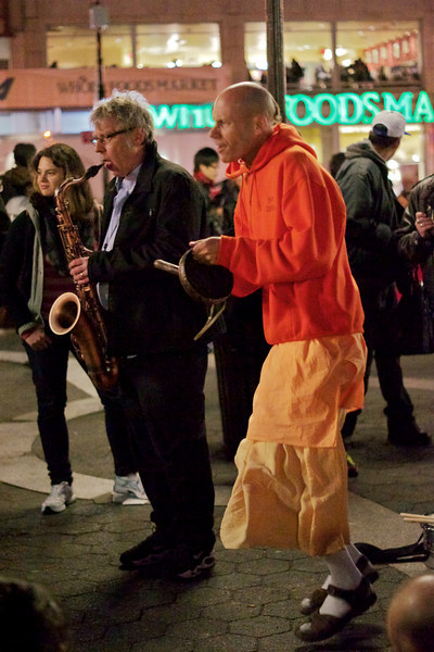 Saxophone soloists and Hare Krishna jam session - only in NYC!
