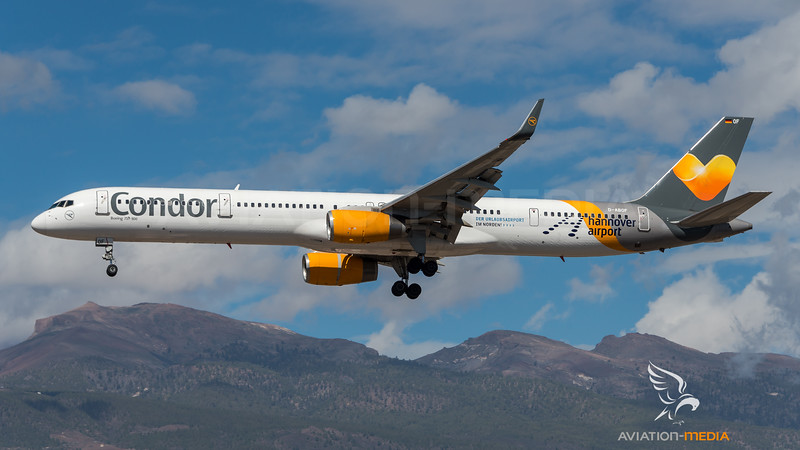 Condor / Boeing B757-330 / D-ABOF / Hannover Airport Livery