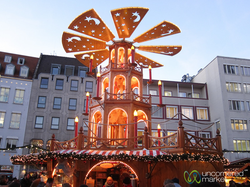 Augsburg Christmas Market and Christmas Pyramid - Bavaria, Germany
