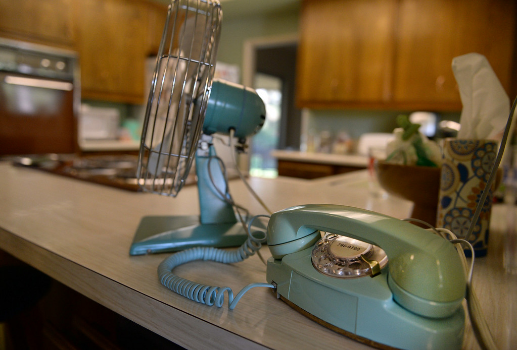 . A working rotary phone is seen in the home of Redlands resident Nathan Gonzales on Thursday, July 10, 2014 in Redlands, Ca. Gonzales\' home was added to the city�s historic register list and is the second post-World War II era building added to it. (Photo by Micah Escamilla/Redlands Daily Facts)