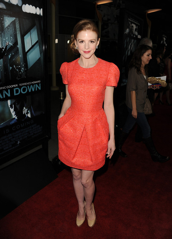 """. Actress Ashley Bell arrives to the premiere of FilmDistricts\'s \""""Dead Man Down\"""" at ArcLight Hollywood on February 26, 2013 in Hollywood, California.  (Photo by Kevin Winter/Getty Images)"""