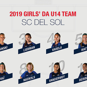 SC Del Sol Girls' DA 2019 U14 Team