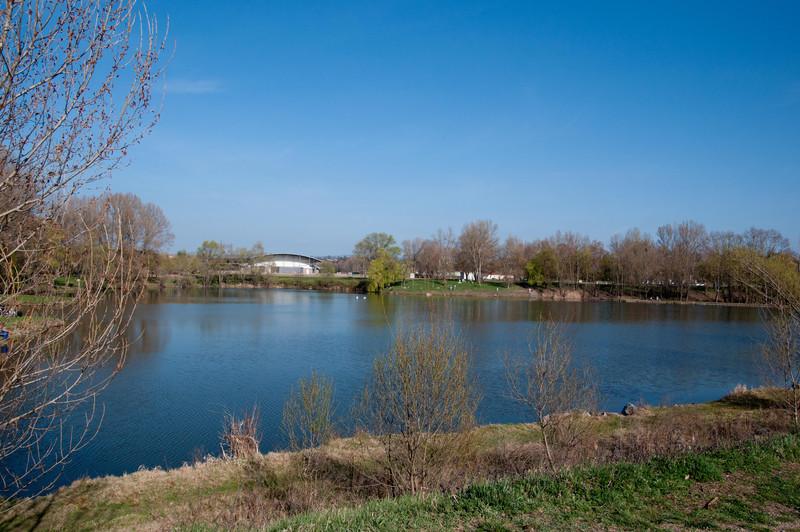 Pond next to Loire river.