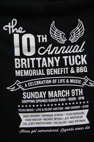 2014-03-09  10th Annual Brittany Tuck Memorial Benefit and BBQ