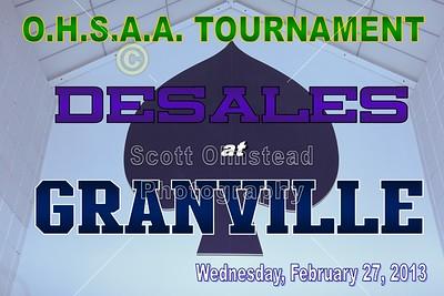 2013 OHSAA TOURNAMENT - Columbus DeSales at Granville (02-27-13)