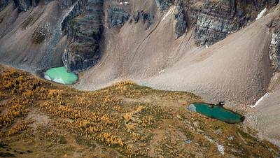 Unnamed tarns, Panorama Ridge, Banff National Park, Alberta, Canada.
