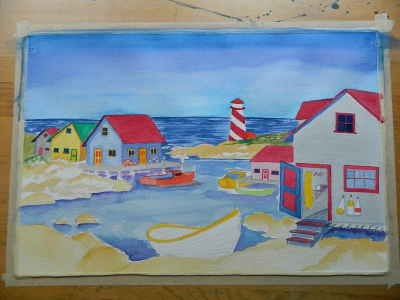 Nova Scotia Harbor, watercolor, 15x22. july 26, 2012. DSCN1352.JPG