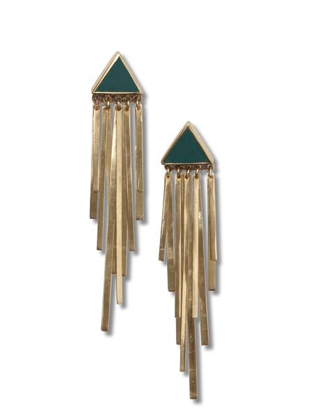 Stardust Golden Earrings