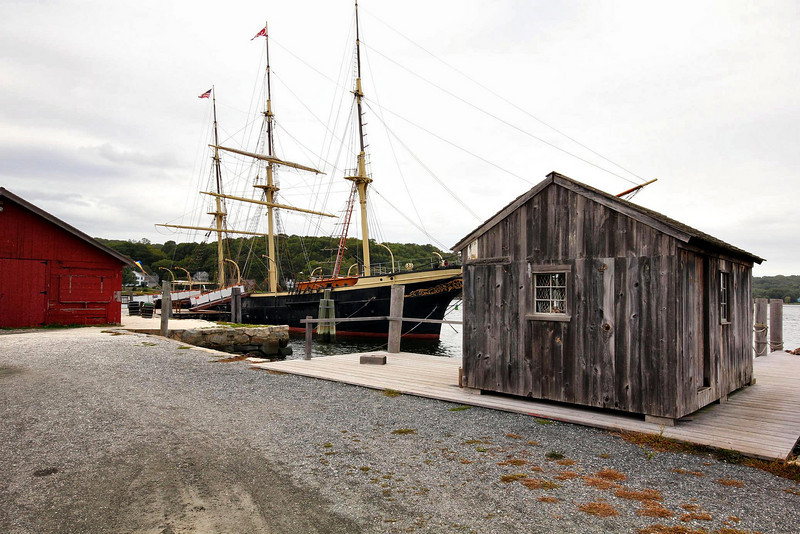 The oldest functional whaling ship in America. Mystic Seaport.