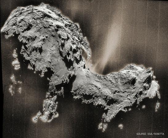 Rosetta-- Dust Jets