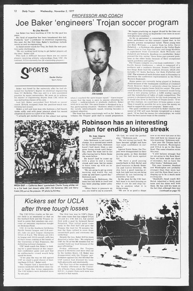 Daily Trojan, Vol. 72, No. 31, November 02, 1977