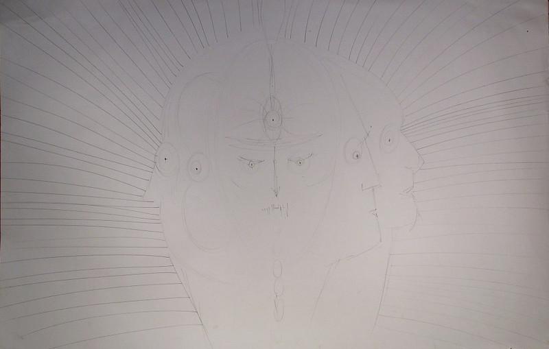 panch mukha drawing