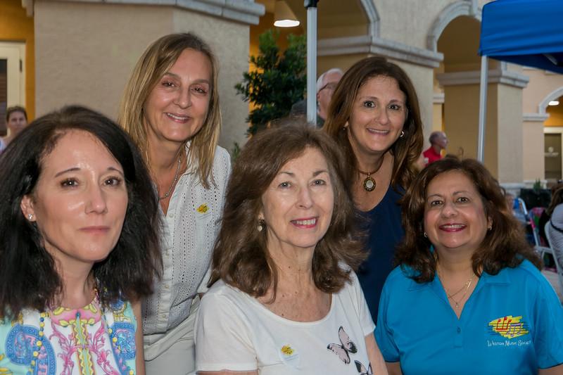 Gina Catone, Barbara Velasco, Diane Marett, Rose Sklar, Andrea Bunghardt