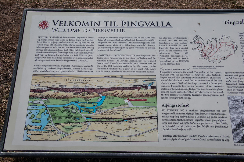 2016.05.21 - Reykjavik, Iceland. Pingvellir - continental divide  and administrative meeting area.