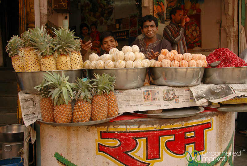 Fruit Stand at the Market in Bikaner, India