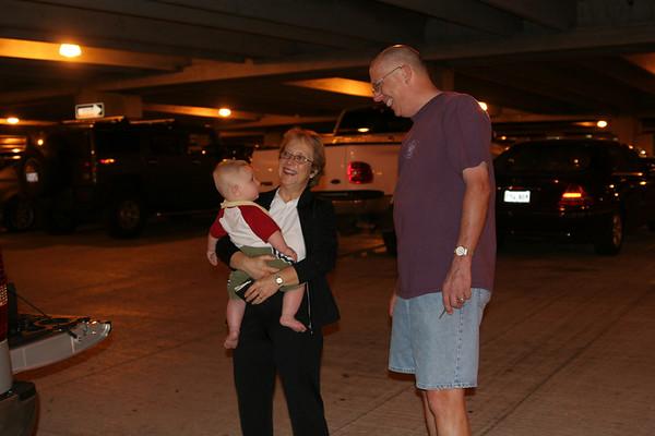 Jonah's 1st Plane Ride & Seeing Nana & Papa - May 30, 2007