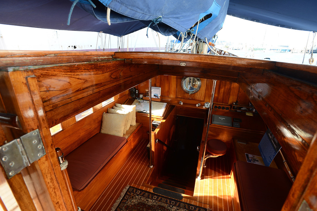 . The cabin of the Eros, a restored 1939 English schooner owned by Bill and Grace Bodle, is photographed in Richmond, Calif. on Thursday, Jan. 10, 2013. (Kristopher Skinner/Staff)