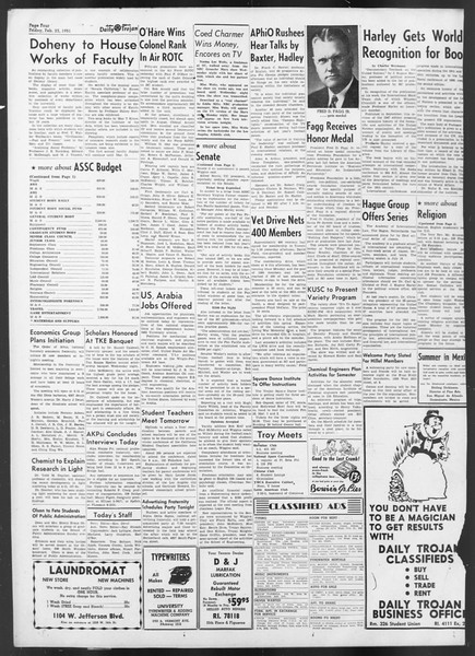 Daily Trojan, Vol. 42, No. 78, February 23, 1951