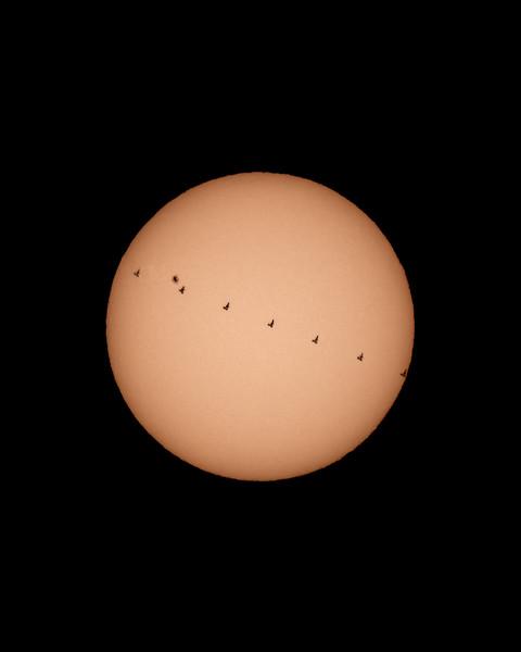 ISS Solar Transit - 2019-04-10