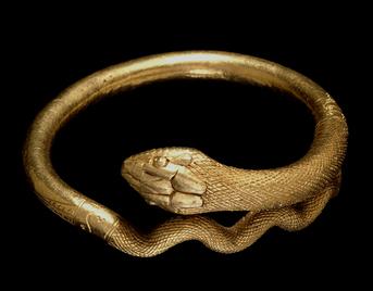 Description of . Gold Snake bracelet, 1st century AD © Soprintendenza Speciale per i Beni Archeologici di Napoli e Pompei