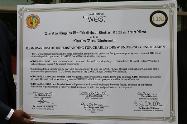 MOU Signing Ceremony: LAUSD West