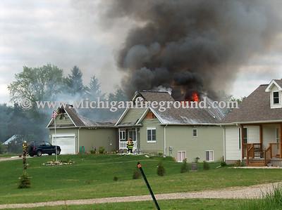 5/11/09 - Henrietta Twp house fire, 4367 E Berry Rd