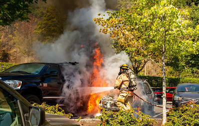 Car Fire,  25 NW 23rd Place,  Portland, OR.  11:38 AM  09/02/2021