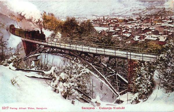 Željeznički most Čolin Potok, početkom 20. vijeka.