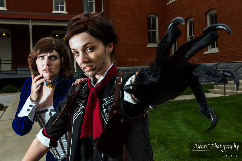 Elizabeth (Crystal Faraday) and Booker DeWitt (Jacki) from Bioshock Infinite