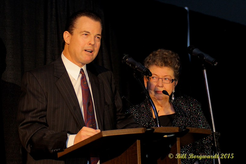 Hal Yerxa's son and Hal's widow, Mary, accept Hall of Fame Induction - ACMA Awards Show 2015