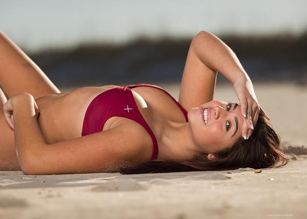 Mistie Laying Sand
