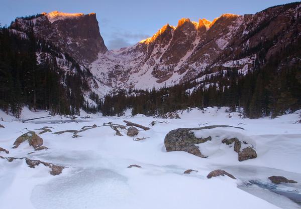Dream Lake Snowshoe.  November 2013