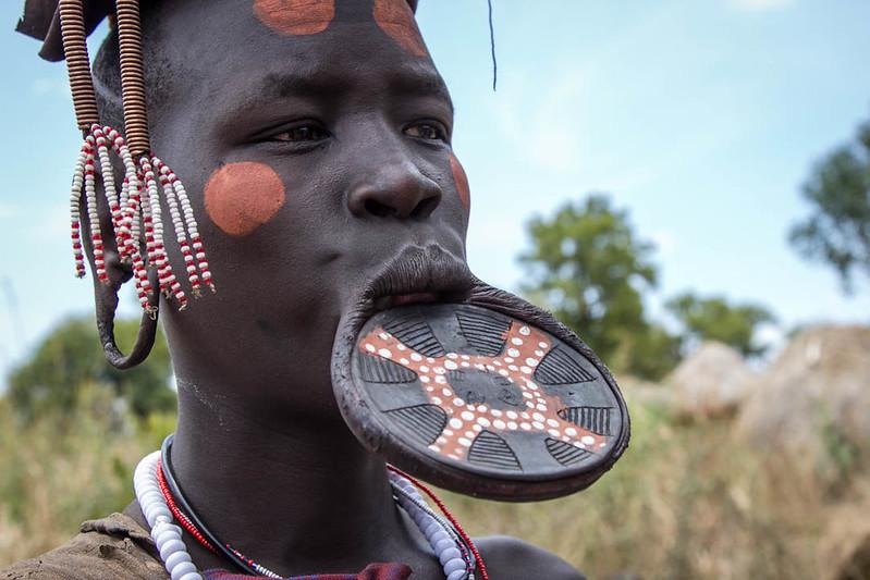 Mursi women with Lip Plate - Ethiopian Tribes