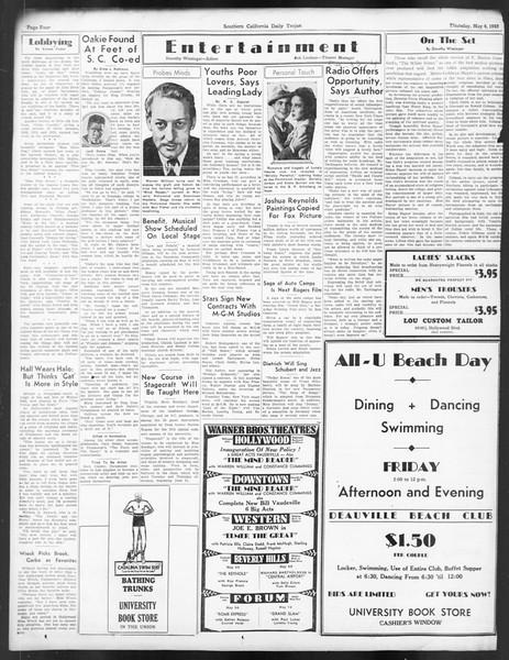 Daily Trojan, Vol. 24, No. 136, May 04, 1933
