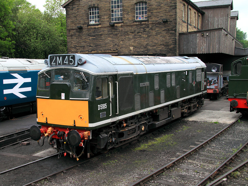 D5185 (25035) awaits a working to do at Haworth Depot on the 13th June 2010