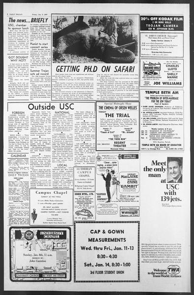 Daily Trojan, Vol. 58, No. 61, January 06, 1967