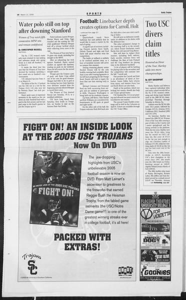Daily Trojan, Vol. 157, No. 40, March 21, 2006