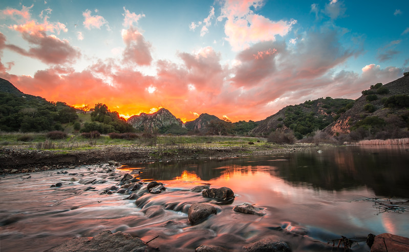 Malibu Creek State Park Winter Rains!   45EPIC Dr. Elliot McGucken Fine Art Landscape and Nature Photography