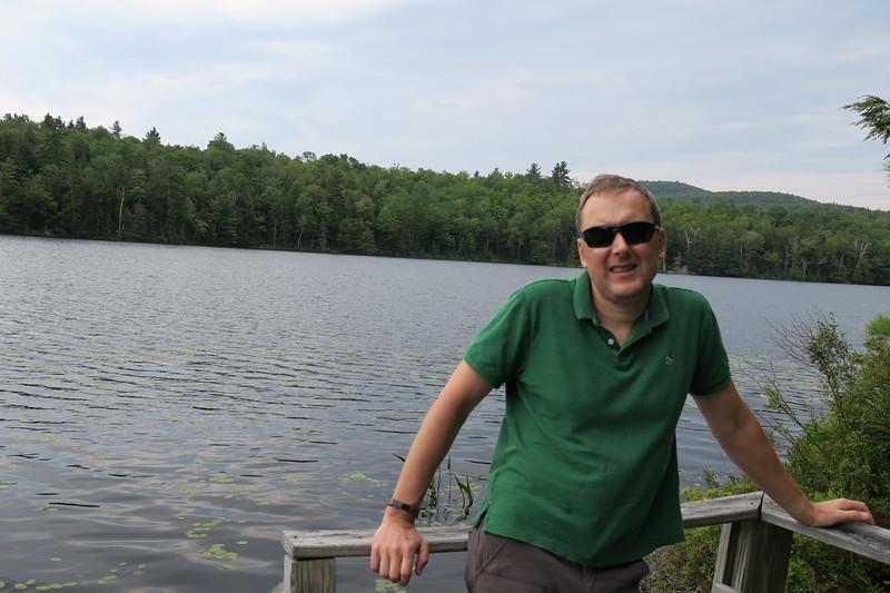 Steve on Bullet Pond
