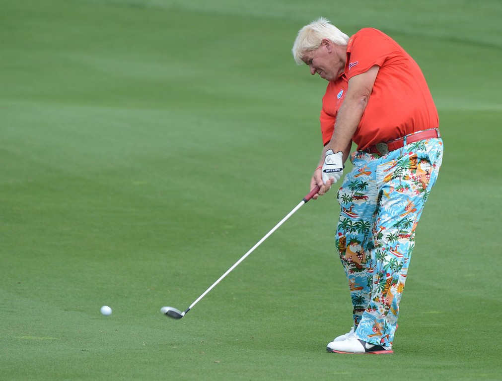 ". <p>8. JOHN DALY <p>If you�re going to let someone tee up a golf ball in your mouth, would you trust a dude whose eyes picked out those pants? (unranked) <p><b><a href=\'http://www.tmz.com/2014/04/16/john-daly-mouth-shot-golf-katherine-michelle/\' target=""_blank\""> HUH?</a></b> <p>   (Mark Ralston/AFP/Getty Images)"