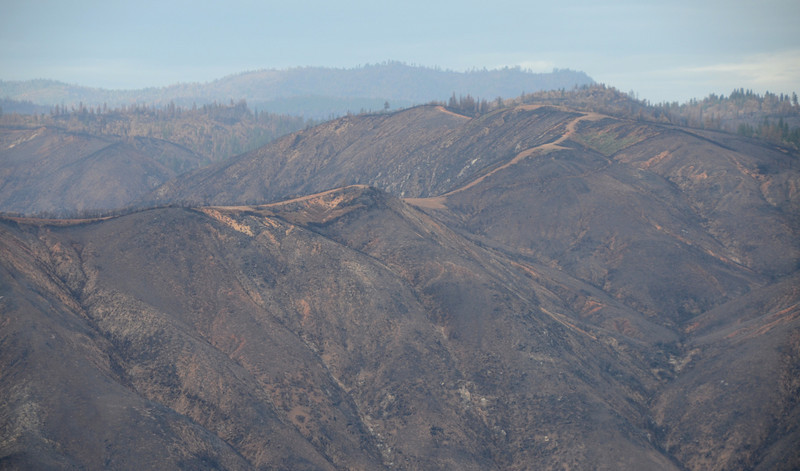 Several scenes of 'Rim Fire' damage from the Rim of the World vista point on Hwy 120.