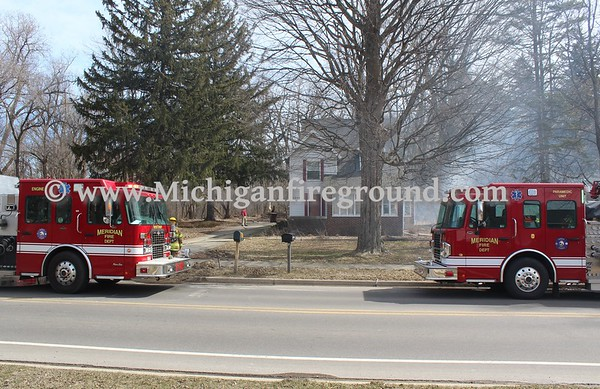 3/24/18 - Meridian Twp house fire, 5010 Park Lake Rd