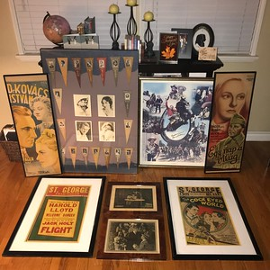 2018 1123 Estate Sale Find 1910's - 40s Posters, lobbies and Felt Pennants