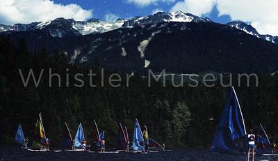 BC's 1981 Aug - Alta Lake Windsurfing under