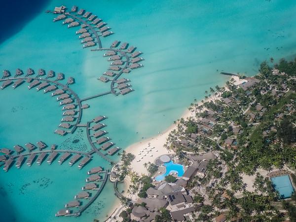 Bora Bora from airplane - June, 2021