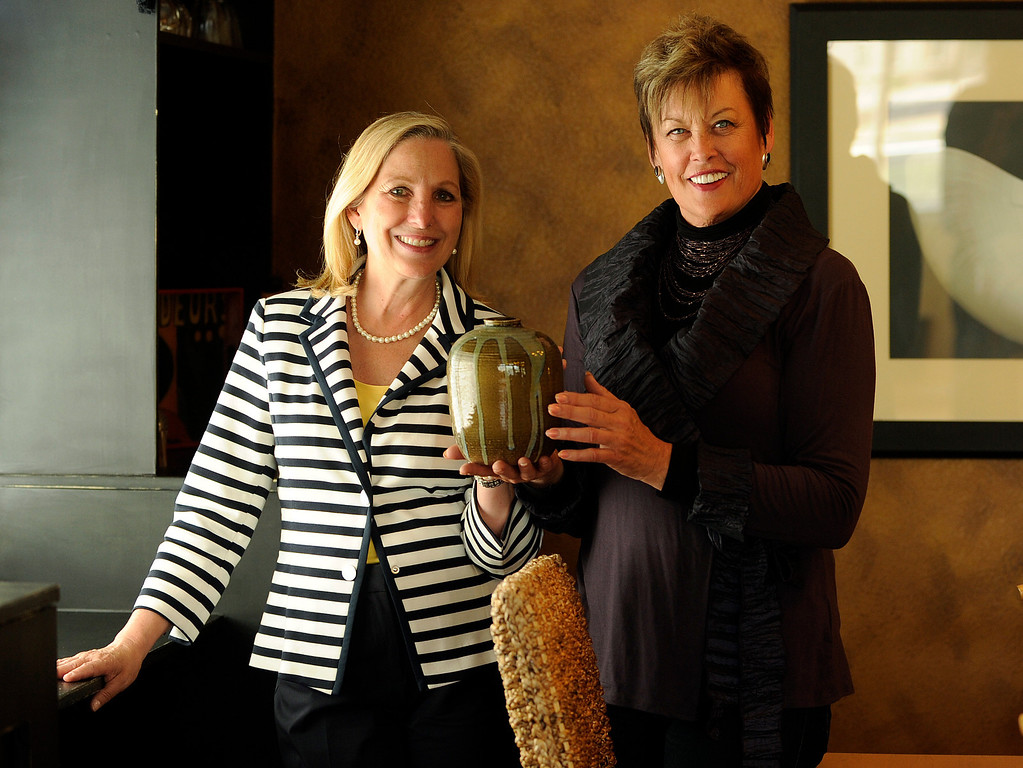 . ARC Community Relations director Frances Owens, left,  and Denver Post contributor Barb Tobias selected the furnishings, art, and other decor items from ARC Thrift stores. (Photo By Cyrus McCrimmon/The Denver Post)