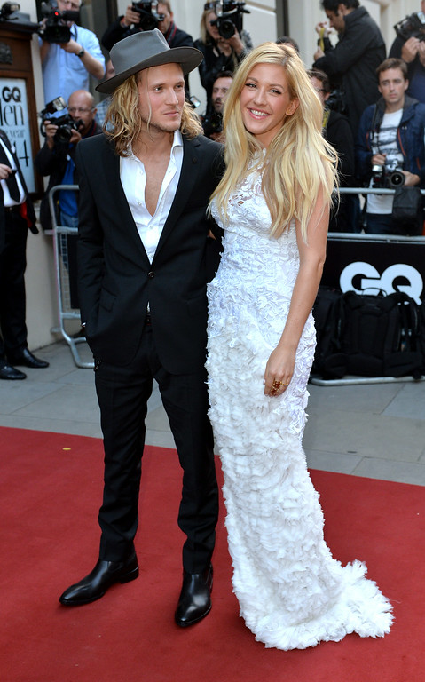 . Dougie Poynter and Ellie Goulding attend the GQ Men of the Year awards at The Royal Opera House on September 2, 2014 in London, England.  (Photo by Anthony Harvey/Getty Images)