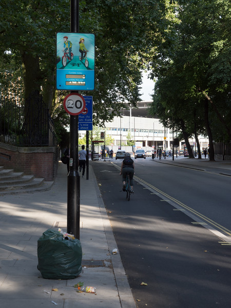 Pancras Road cycle tracks