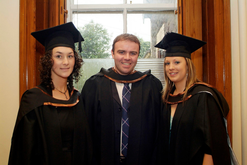 Roseanne Lawlor, Adamstown, Ian O'Reilly, Rosbercon and Tanya Leacy, Cushinstown, all graduates with Bachelor of Business (Hons) at Waterford Institute of Technology.  (pic-photozone)
